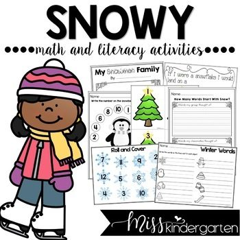 Snow Activities for Math and Literacy
