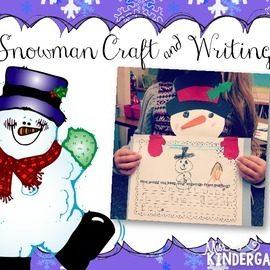 Snowman Craft and Writing Freebie