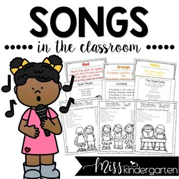 Singing songs in the classroom is such a great classroom management tool and so much fun for everyone too! Check out these songs I use in my classroom to keep things running smoothly and students on task. Enjoy songs for calendar time, sight words, color words and more!