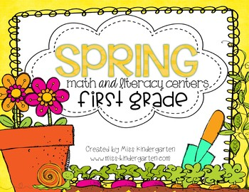 Spring Centers Math and Literacy Centers for First Grade