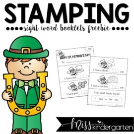St. Patrick's Day Stamping Booklet Freebie