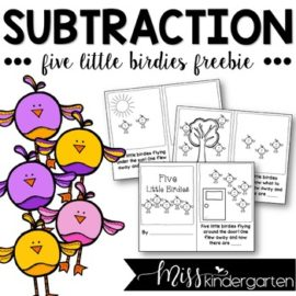 Subtraction Stories Five Little Birdies Freebie