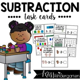 Subtraction Task Cards for Subtraction Strategies