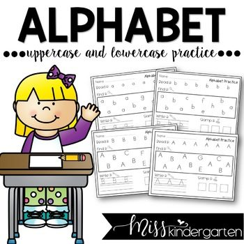 Uppercase and Lowercase Letters Alphabet Practice Pages