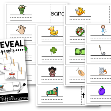 Word Work Blends and Digraphs Write and Reveal