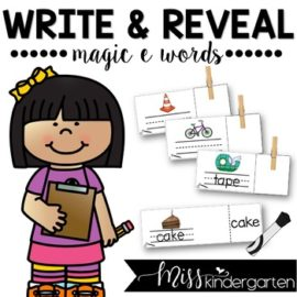 Word Work Magic e Words Write and Reveal