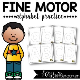 Fine Motor Skills Alphabet Practice
