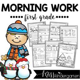 December Morning Work First Grade