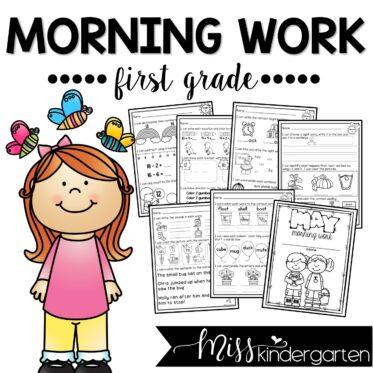 May Morning Work First Grade