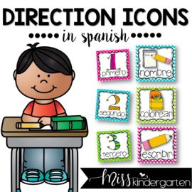 Picture Direction Icons in Spanish