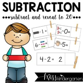 Subtraction Fluency Subtract and Reveal