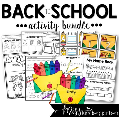low prep and no prep activities that are perfect for back to school in kindergarten