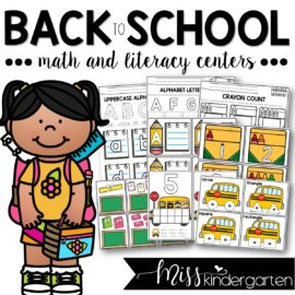 Back to School Centers and Printables