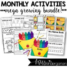 Monthly Activity MEGA Growing Bundle