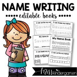 Name Writing Practice Editable Books