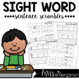Sight Word Practice Sight Word Sentences (Can be used for distance learning)