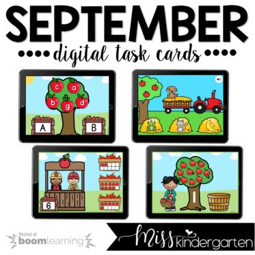 Kindergarten Boom Cards™ for September
