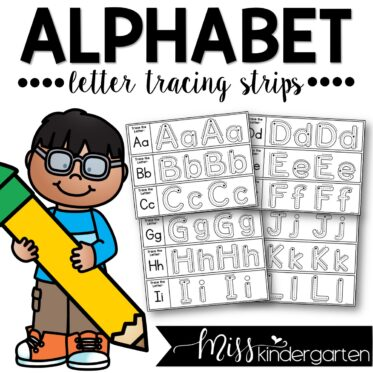 Alphabet Letter Tracing Strips