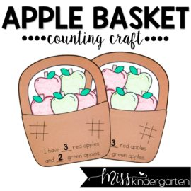 Apple Basket Counting Craft
