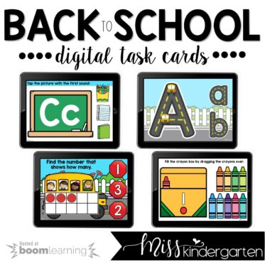 Back to School Boom Cards™ for Distance Learning
