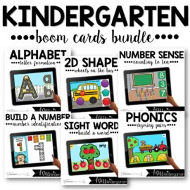 Kindergarten Boom Cards™ Year Long Bundle