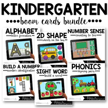 Kindergarten Boom Cards™ Year Long Bundle