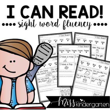 I Can Read Sight Word Fluency Kindergarten Worksheets Seesaw and Google Slides™