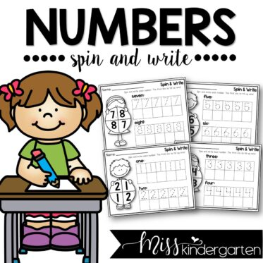 Number Writing Practice Spin and Write 1-20