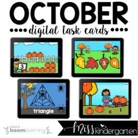Kindergarten Boom Cards™ for October