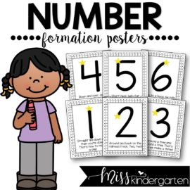 Number Formation Rhymes Posters