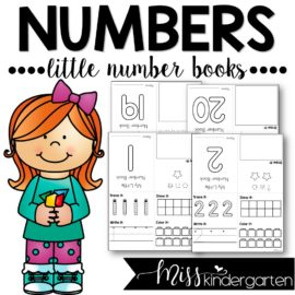 Number Practice Little Number Books 1-20