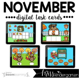 November Boom Cards™ for Kindergarten