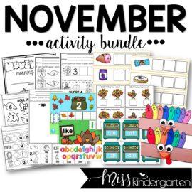 November Activity Bundle
