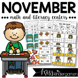 November Centers and Printables