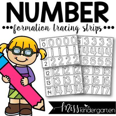 Number Tracing Strips 0-20