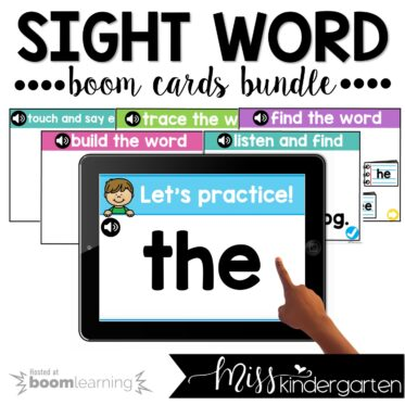 Sight Words Boom Cards™ First 100 Words Bundle
