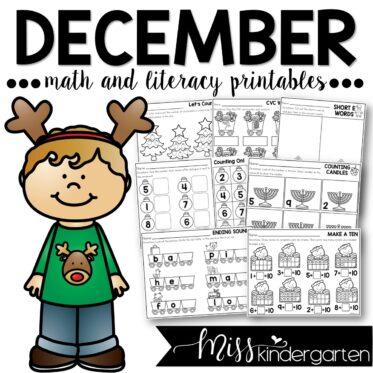 December Print and Go Printables