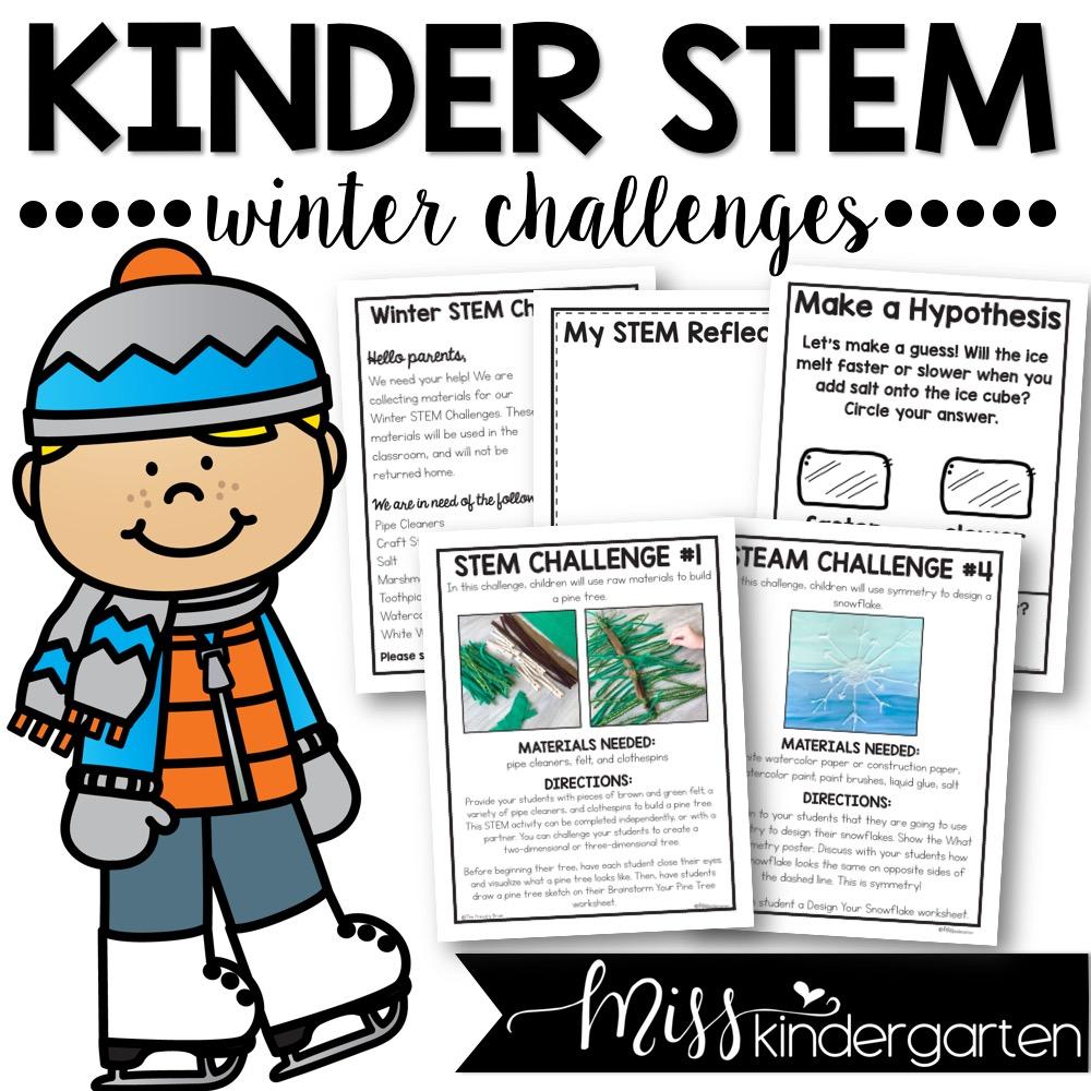 Kindergarten STEM activities that are perfect for winter