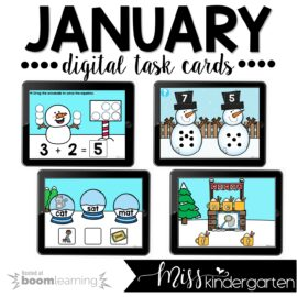 January Boom Cards™ for Kindergarten