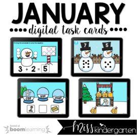 January Boom Cards™ for Kindergarten