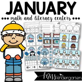 January Centers and Printables