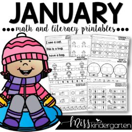 January Print and Go Printables