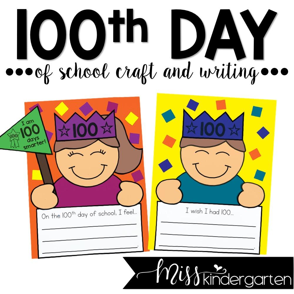 20th Day of School Craft   Miss Kindergarten