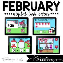 February Boom Cards™ For Kindergarten