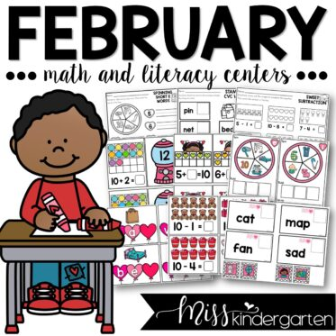 February Math and Literacy Centers