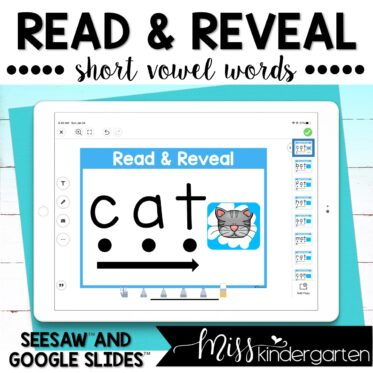 CVC Words Read and Reveal for Google Slides™ and Seesaw™
