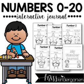 Number Sense Activities Interactive Number Journal 0-20