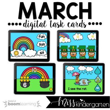 March Boom Cards™ for Kindergarten