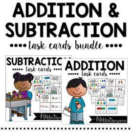 Addition and Subtraction Strategies Task Cards Bundle