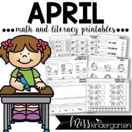 April Print and Go Printables